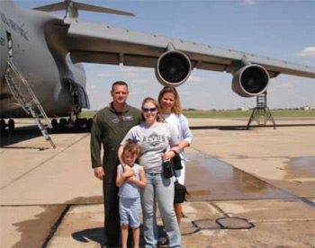 The Channer family, toward the end of Doug's Air Force carreer.